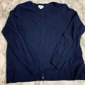Old Navy Crewneck Cardigan Navy Blue